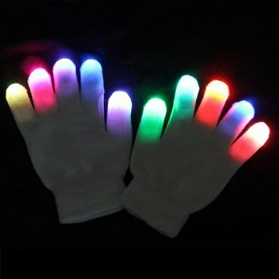 Raver Modes Multicolor Crazy LED Lights Red+Green+Blue 6 Cool US with Gloves USA