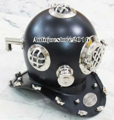 """Antique Us Navy Vintage Diving Divers Helmet Solid Brass Collectible Gift 18"""""""