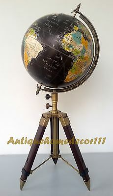 "Vintage 12"" Replogle World Globe World Classic Series On Tripod Stand Home Decor"