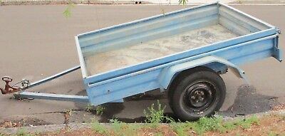 "Gal Box Trailer 7' x 4'10"" Registered VG Tyres & Bearings Ideal for Dirt Bikes"