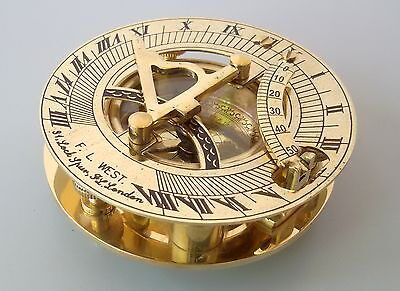 Brass Sundial Compass Antique Vintage Style Nautical Maritime Christmas Gift