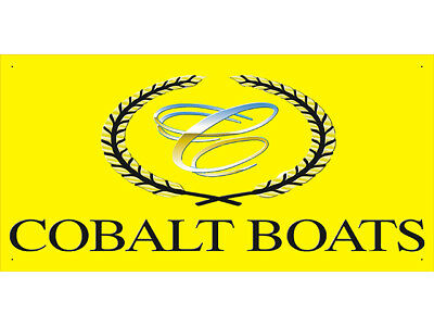 Advertising Display Banner for Cobalt Boat