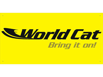 Advertising Display Banner for World Cat Boat Craft Parts Service Maintenance Au