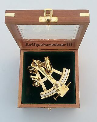 Nautical Solid Brass Sextant Maritime Astrolabe Ships Instrument Christmas Gift