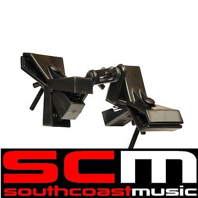 ACCETERA MIN-EZE Dual Microphone Clamps w/ Swing-style Center for Tight Mic-ing