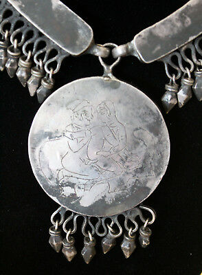 Rajasthani Indian Tribal Silver necklace Jaipur - antique