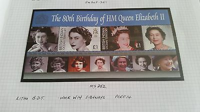 British Indian Ocean Territory 2006 Sg Ms352 80Th Birthday Of Queen Mnh
