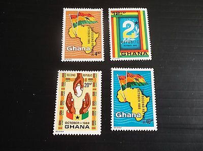 Ghana 1969 Sg 556-559 Inauguration Second Republic Mnh