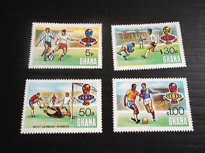 Ghana 1974 Sg 715-718 World Cup Football. Mnh