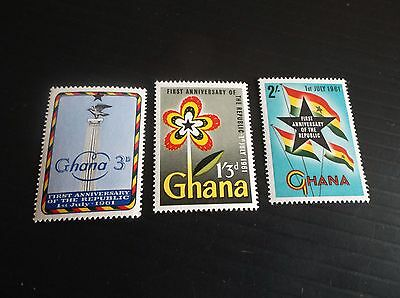 Ghana 1961 Sg 262-264 1St Anniv Of Republic Mnh