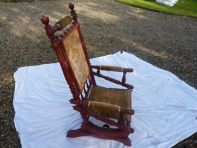 Antique vintage traditional American style rocking chair