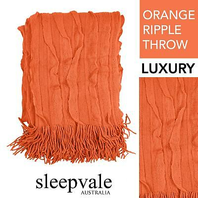 Ripple Throw Orange Throw Rug Brand New