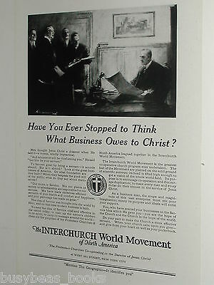 1920 Interchurch World Movement advertisement page, Protestant Churches