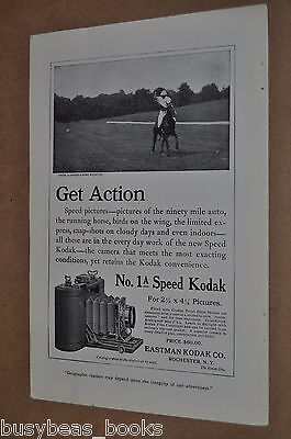 1911 Kodak advertisement for 1A SPEED KODAK camera, with polo pony
