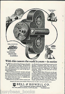1927 Bell & Howell advertisement, FILMO Movie Camera