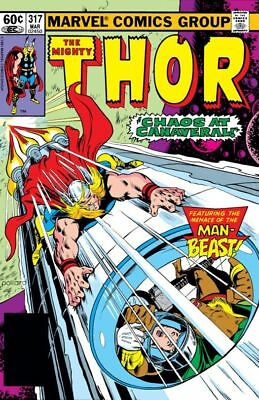 THOR 317   MARVEL Comics     MAN BEAST