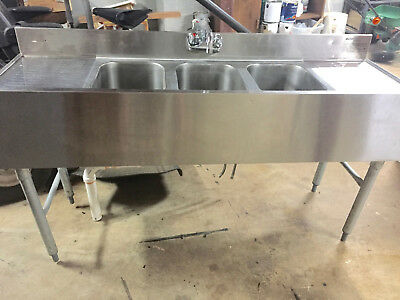Eagle Group B5C-18 3 compartment Under Bar Stainless Steel Sink