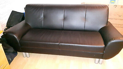 leder sofa 3 sitzer garnitur 3er chesterfield. Black Bedroom Furniture Sets. Home Design Ideas