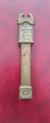 Vintage / Antique Solid Brass Grandfather Clock Nut Crackers