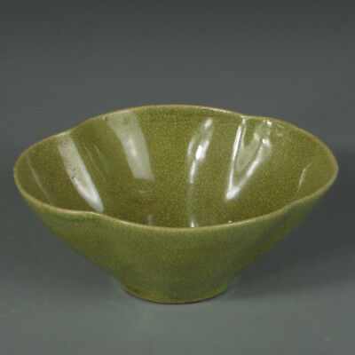 Vintage Chinese Porcelain Bowl Asian Ceramic Art Collection Green Glaze China