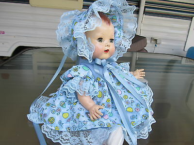"BLUE LACE 3 piece dress set, for 11""-13"" for TINY TEARS or same size dolls"