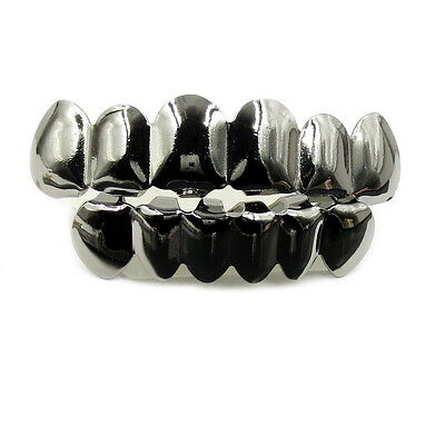 HIPHOP Kupfer Teeth Grillz Cosplay One size fits all - Schwarz Grillz Set