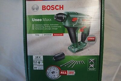 bosch uneo maxx 18 v li 1 akku 2 5 ah bohrfutter. Black Bedroom Furniture Sets. Home Design Ideas