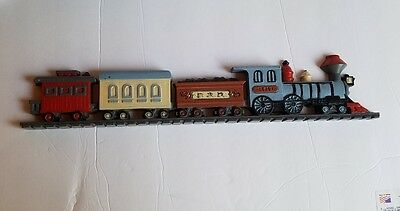 "Burwood Products # 3110 Train 15 1/4"" Wall Decor Railroad Made in the USA"