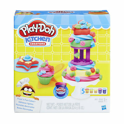 Play-Doh Frost 'N Fun Cakes Dessert Baking Creative Toys Birthday Christmas Gift