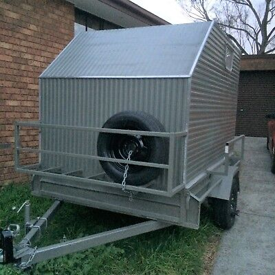 8 X 5 Custom Enclosed Box Trailer