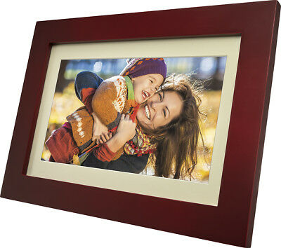 "Insignia - 10"" Widescreen LCD Digital Photo Frame Espresso Open Box"