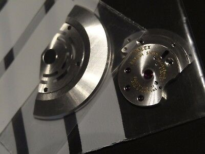 Rolex Caliber 3135 Mvt Parts Set Rotor And Plate Nos New Never Used