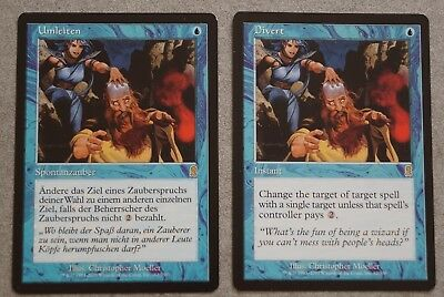 2x Divert/Umleiten, Odyssey, rare, Magic the Gathering