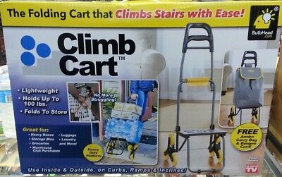 Climb Cart by BulbHead The Folding Cart That Climbs Stairs As Seen On TV