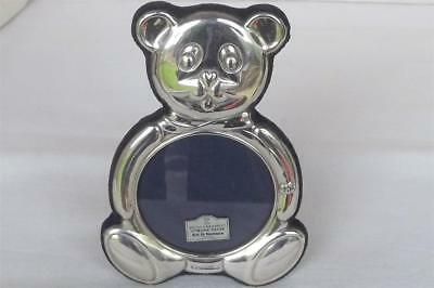 A Superb Sterling Silver Teddy Bear Photo Frame By Ari D. Norman Dates 1997.