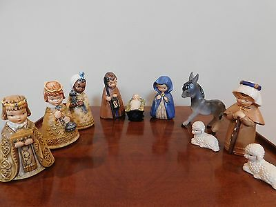 Goebel 10 figurines Nativity set designed by Janet Robson