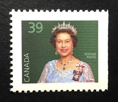 Canada #1167asi Right SP MNH, Queen Elizabeth II Definitive Booklet Stamp 1990