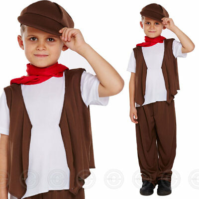 Boys Victorian Chimney Sweeping Fancy Dress Costume Sweep Poor Childs Boy Outfit