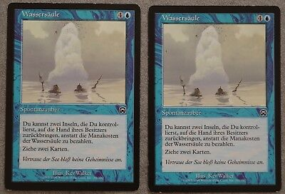 2x Wassersäule (Gush), Mercadian Masques, rare, Magic the Gathering