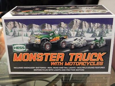 2007 Hess Monster Truck With Two Motercycles