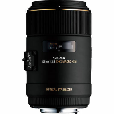 boxed Sigma 105mm Macro F2.8 EX DG OS HSM Lens - Canon Fit