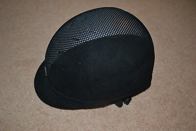 Ayr8 by Charles Owen riding hat black with silver