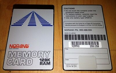 Norand 128k Memory Ram Card for the HP 48GX / TDS SMI Survey Data Collectors
