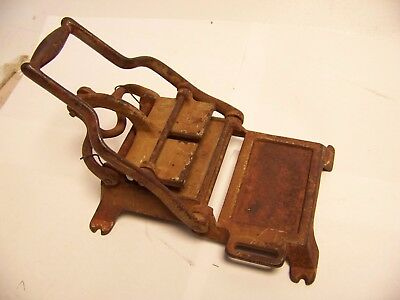 VINTAGE SMALL cast iron PRINTING PRESS old antique calling card?