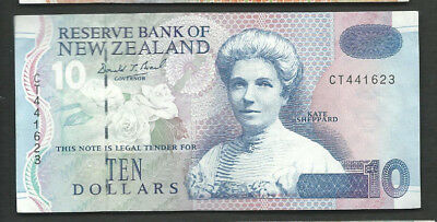 New Zealand 1994 10 Dollars P 182a Circulated