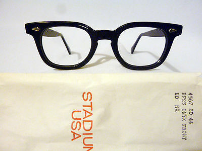 Vintage American Optical Hybrid Stadium Black 44/20 Men's Plastic Eyeglass Frame