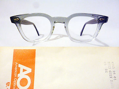 Vintage American Optical Hybrid Stadium Grey 44/24 Men's Plastic Eyeglass Frame