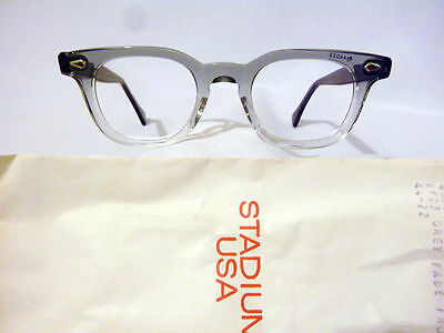 Vintage American Optical Hybrid Stadium Grey 44/22 Men's Plastic Eyeglass Frame