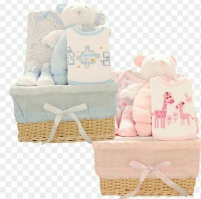 New Baby Boys Girls Gift Set,5 Piece Set,gift Box,newborn Gift,pink Blue White