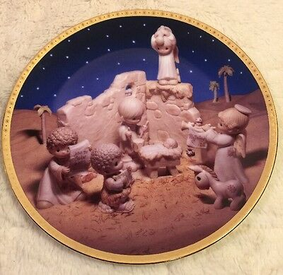 New Precious Moments I'LL PLAY MY DRUM FOR HIM Collector Plate Hamilton 1996